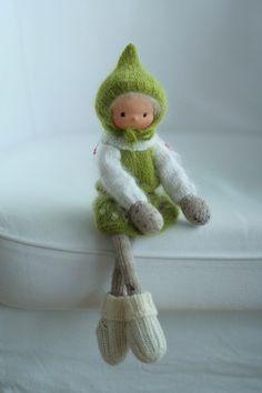 Knitted doll Joy 14 by Peperuda dolls Handmade art