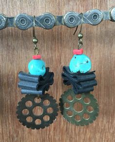 Bike Tube Earrings Recycled Inner Tube Earrings by maybirdjewelry