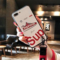 シュプリーム supreme ブランド コラボ アディダス adidas iphone8 ケース iphoneX カバー 個性 iphone7 iphone7plus/6/6plus/6s ストラップ