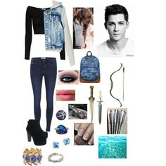 daughter of poseidon, sister of percy going on a quest with him by fandom-fashions6261 on Polyvore featuring Torn by Ronny Kobo, ONLY, Jeffrey Campbell, Roxy, MANGO, John Hardy, Jamie Joseph, LORAC and OPI