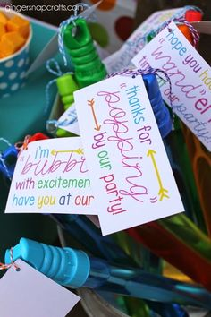 DIY bubble party favors with printable