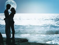 romantic hugs and kisses with my lover at the beach - MY FAVORITE THING!