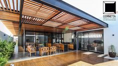 Pergola Against House Iron Pergola, Pergola With Roof, Patio Roof, Pergola Patio, Backyard Patio, Pergola Kits, Pergola Ideas, Pergola Designs, Patio Design
