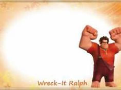V is for Vanellope W is for Wreck it Ralph, F for Fix it Felix, K is for King Candy