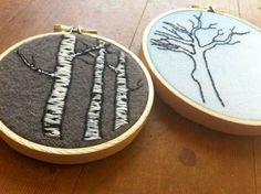 Trees etc from a beginner - NEEDLEWORK
