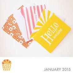 Printable greeting cards on HappyPrintClub.com HPC-2015-jan