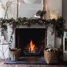 Image result for the white company christmas mantle