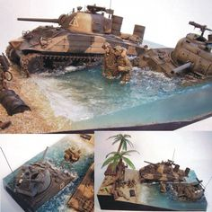 Great Dio!!! Unknown modeler  From: Love Scale Models  #beach #scalemodel #plastimodelismo #miniatura #diorama #hobby #dio #plastickits #usinadoskits #udk #miniatura #miniature #maqueta #maquette #modelismo #modelism #invasão #praia #soldiers #soldados