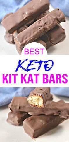 Quick low carb simple ingredient Kit Kat chocolate candy bars everyone will love. Perfect for low carb keto desserts or afternoon keto snacks - even as a breakfast sweet treat. This should be part of your keto meal plan. Keto Desserts, Keto Snacks, Holiday Desserts, Dessert Recipes, Jelly Recipes, Dinner Recipes, Low Carb Candy, Keto Candy, Biscuits Keto