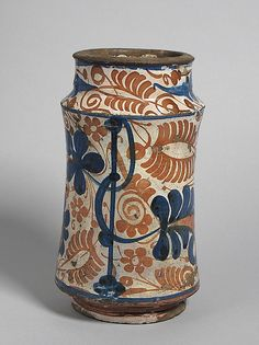 Pharmacy Jar, second half 15th century Made in Manises, Valencia, Spain