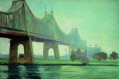 Edward Hopper, Queensborough Bridge (Le Pont de Queensborough), 1913. New York, Whitney Museum of American Art. Legs de Josephine N. Hopper, 70.1184 © Heirs of Josephine N. Hopper, licensed by the Whitney Museum of American Art, N. Y. Photo Robert M. Mates