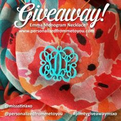 *CLICK THE PICTURE* to enter to WIN a Monogram Necklace ends 6/7/14