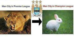 Manchester City in Champions league