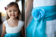 Pretty in blue, flower girl dress. Michelle and Damien, photography and film 888.301.6919
