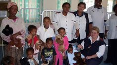 Staff and patients with donations at Marjery Parkes TB hospital in South Africa. Photo Credit: Pack for a Purpose www.packforapurpose.org