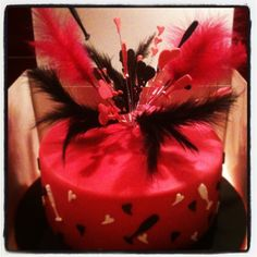Burlesque style birthday cake for Georgia.  Find me on Facebook - Feendish Delights