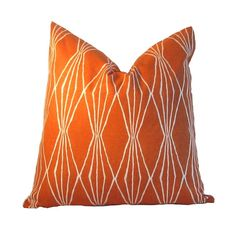 Robert Allen Pillow Cover Handcut Shapes Orange Crush screen-printed Contemporary pattern by Robert Allen Orange Crush Cotton Duck Orange Pillow Covers, Orange Pillows, Robert Allen, Orange Crush, Screen Printing, Shapes, Throw Pillows, Contemporary, Printed