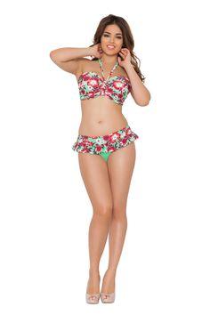 Curvy Kate Aloha Padded Bandeau Bikini Top Seafoam