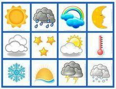 Bilderesultat for pictogram bilder Weather Activities, Color Activities, Preschool Activities, Weather For Kids, Classroom Organisation, Class Decoration, Learning Colors, Kids Education, Pre School