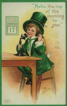 vintage St Pat's day postcard.