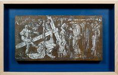 "Frank Brangwyn: ""Jesus Falls Below the Cross, Original woodblock, 7 x 15 in. Frank Brangwyn, Stations of the Cross, Liss Fine Art page Christianity, Religion, British, Fine Art, The Originals, Fall, Modern, Autumn, Trendy Tree"
