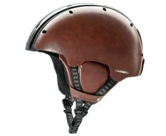 The helmet comes in five color choices, including the fancy-shmancy leather/carbon version...