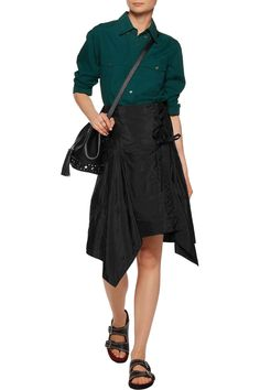 Shop on-sale Isabel Marant Kerena asymmetric shell wrap skirt. Browse other discount designer Skirts & more on The Most Fashionable Fashion Outlet, THE OUTNET.COM