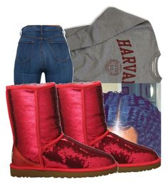 """.. .. .. .. .."" by royaltyvoka ❤ liked on Polyvore featuring UGG Australia"