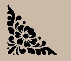 Motivo Floral de la plantilla de la esquina de 10x9.7