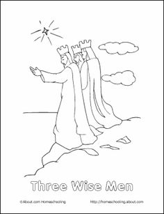 Christmas - Nativity Printables: Christmas Coloring Page - Three Wise Men