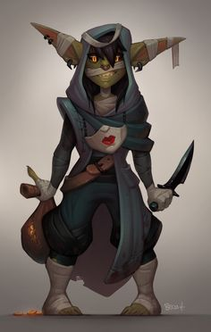 ArtStation - Nott the Brave! (with process), Becca Hallstedt