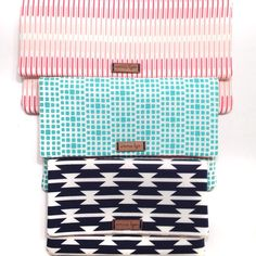 Small, Medium, and Large Clutches from Emma Lyn (www.etsy.com/EmmaLynDesign)
