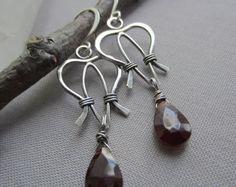 SALE 20%OFF/Copper Wire Earrings/ Wire Earrings/ Artisan by mese9