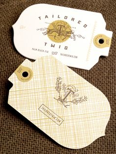 Letterpress Tailored Twig Clothing Tags // Eric Kass