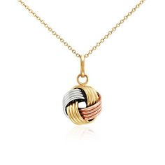 Grande Love Knot Pendant in Tri-Color Gold, Rose Gold Knot Necklace, Gold Necklace, Silver Anniversary, Jewelry Stand, Gold Cross, Bridal Accessories, Cross Pendant, Bracelets, Handmade Jewelry