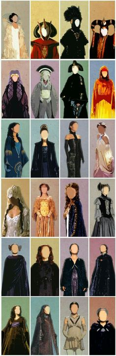 Padme Amidala costumes: Episodes I, II, & III Say what you will about the movies.but Padme's costumes were amazing! Star Wars Padme, Star Wars Rebels, Star Wars Art, Star Trek, Reina Amidala, Cosplay, Fantasy Fashion, Dark Vader, Star Wars