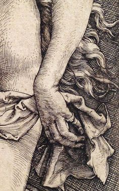 Albrecht Dürer ~ The Temptation of the Idler (The Dream of the Doctor) (detail), I like the crosshatching and the details of how he drew. Jan Van Eyck, Gravure Illustration, Illustration Art, Illustrations Poster, Engraving Art, Scratchboard, Faber Castell, Art Inspo, Line Art