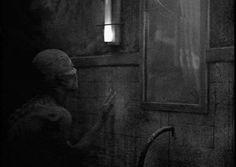 grafika black and white, mirror, and creepy