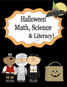 """Halloween Math, Science, And Literacy Unit! from Engaging Lessons on TeachersNotebook.com (40 pages)  - This Halloween Unit is packed with activites for Math, Science, and Literacy that are super engaging and all centered around a """"Halloween"""" theme to make for fun learning!  Unit includes:  Spooks: Poetry/noun Activity  """"How many Pumpkins Tal"""