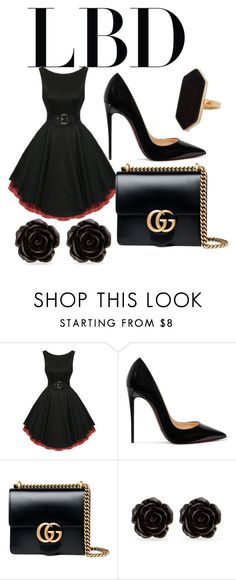 """""""Untitled #3"""" by sydneyoo on Polyvore featuring Christian Louboutin, Gucci, Erica Lyons and Jaeger"""