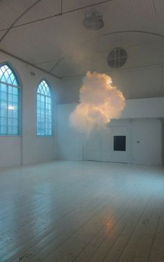 Artist Berndnaut Smilde  I think you could combine this with the bubbles on the floor idea