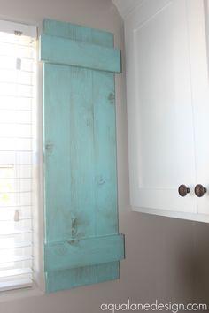 how to build indoor shutters, Aqua Lane Designs on Remodelaholic