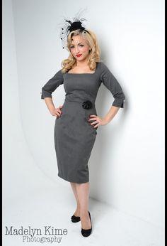 Hell Bells! Grey Stretch Twill Dress