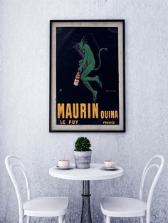 Vintage Poster Print - Antique French Poster - Early 20th Century European Advertisement Art -Maurin quina. Le Puy