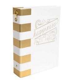 "Heidi Swapp Memory Binder 5""X7""-Wanderlust, Modern with Gold Foil - Joann Fabrics"