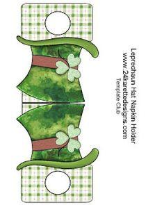 St Patricks day napkin holder-free printable