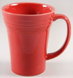 2138ed2a31b Fiesta® Dinnerware Scarlet 16 oz. Bistro Latte Mug by Homer Laughlin China  Company