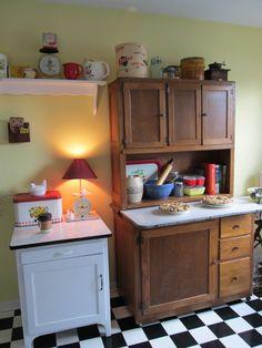 Grandmother's Hoosier Cabinet More