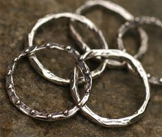 SIX Rustic Artisan 19mm Skinny Dotted Link in by cathydailey, $32.38