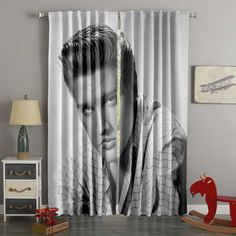 3D Printed Elvis Presley Style Custom Living Room Curtains 3d Curtains, Custom Curtains, Panel Curtains, Custom Bedding, Bedroom Curtains, Elvis Presley Pictures, Thermal Curtains, Wall Stickers Home Decor, Bed Duvet Covers